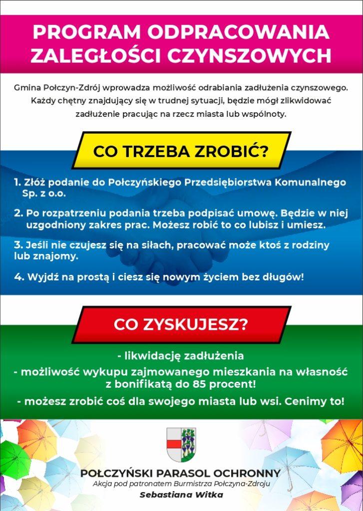 Plakat: Program odpracowania zaległości czynszowych